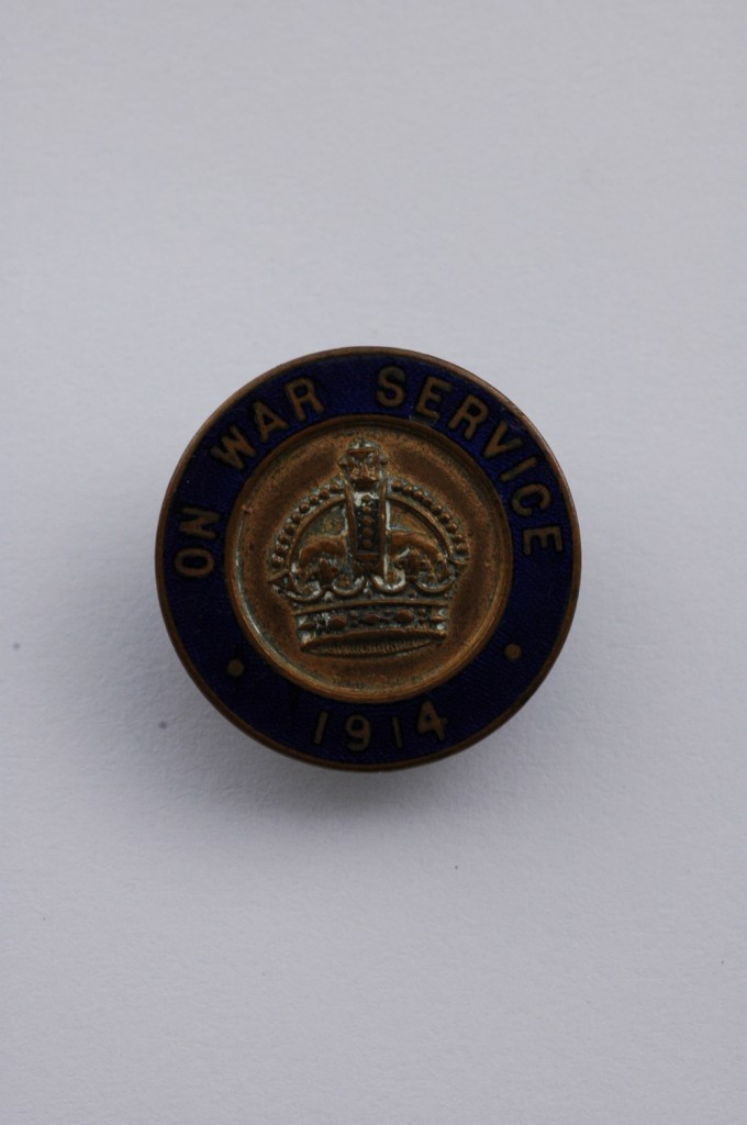 On War Service badge.JPG