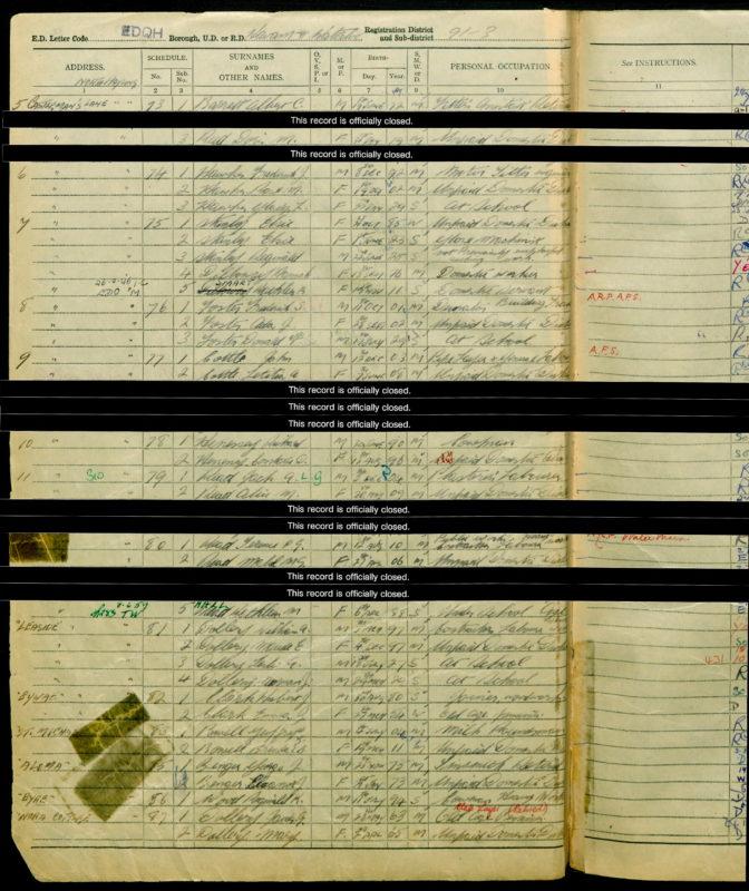 Benger 1939 Register